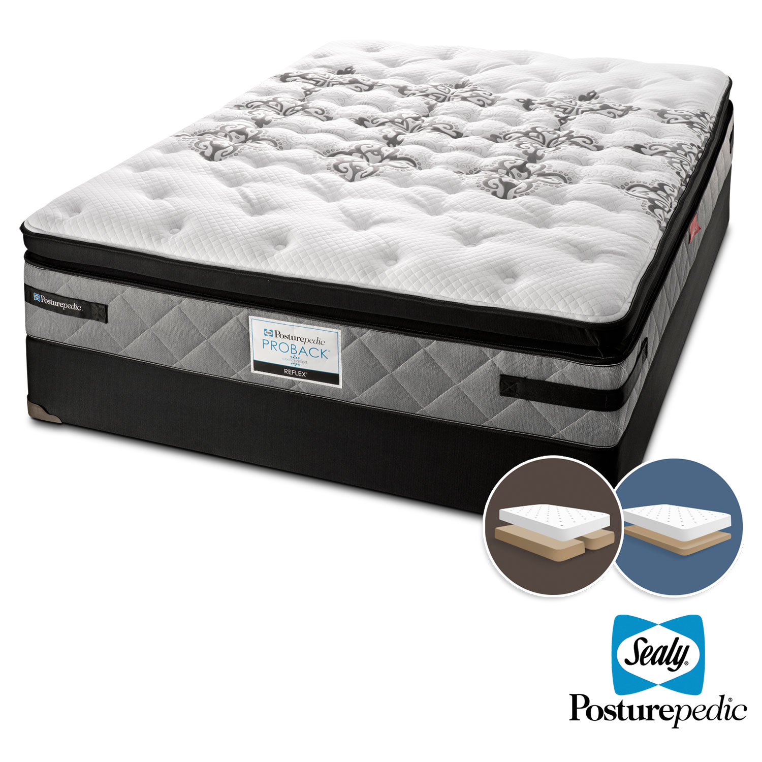 Mattresses and Bedding - Sealy Myth Firm King Mattress and Low-Profile Split Boxspring Set