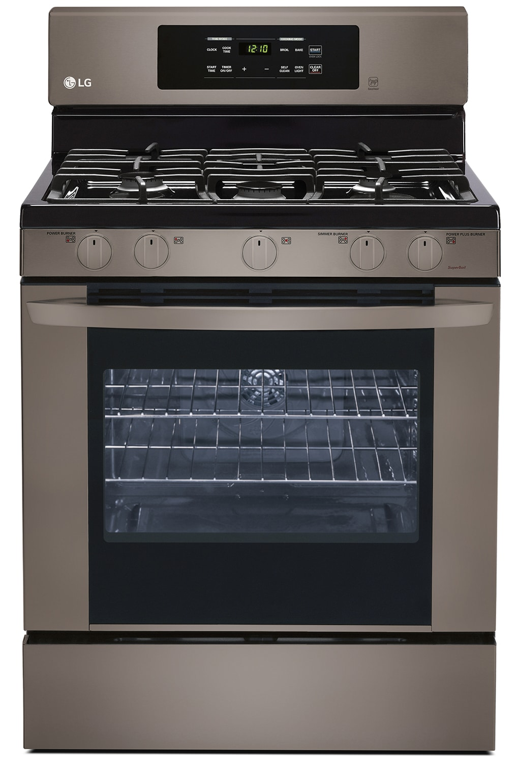 LG Appliances Black Stainless Steel Gas Convection Range (5.4 Cu. Ft.) - LRG3081BD