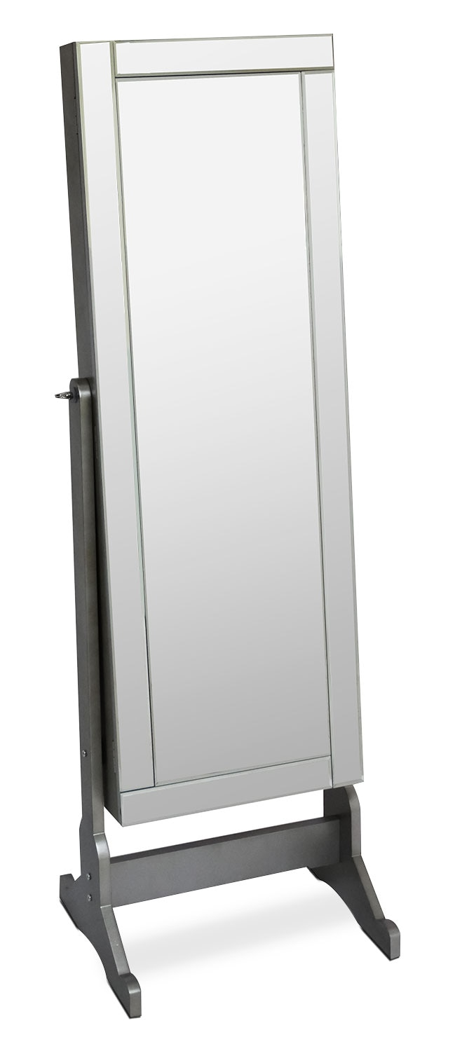Accent and Occasional Furniture - Online Only - Diana Jewelry Mirror Cabinet with Panel Border