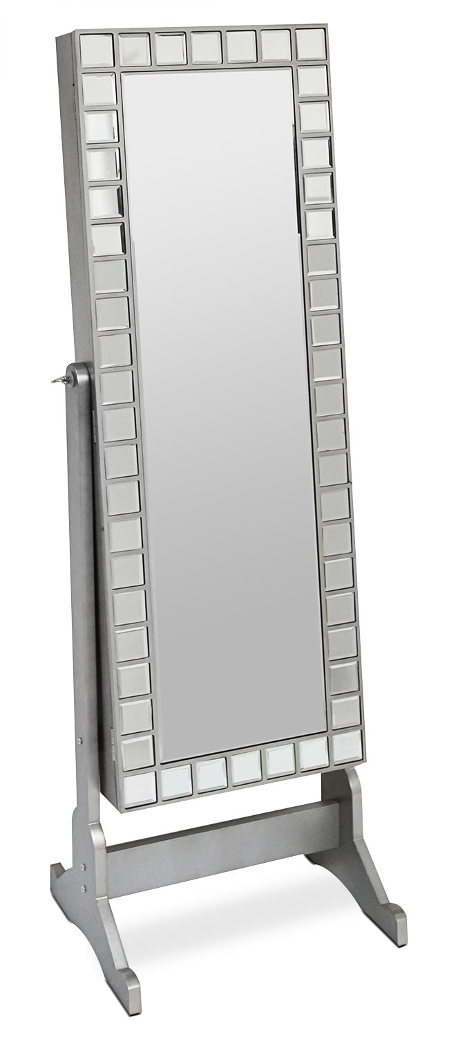 Accent and Occasional Furniture - Online Only - Diana Jewelry Mirror Cabinet with Mosaic Border