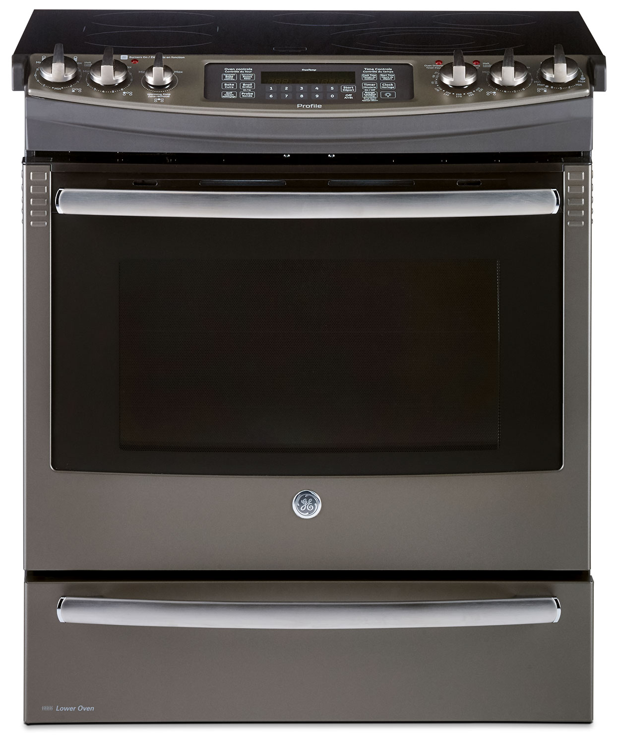 GE 6.6 Cu. Ft. Slide-In Electric Range with Baking Drawer – PCS940EJES