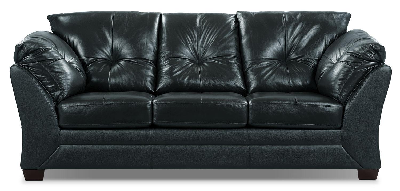 Max Genuine Leather Sofa – Black