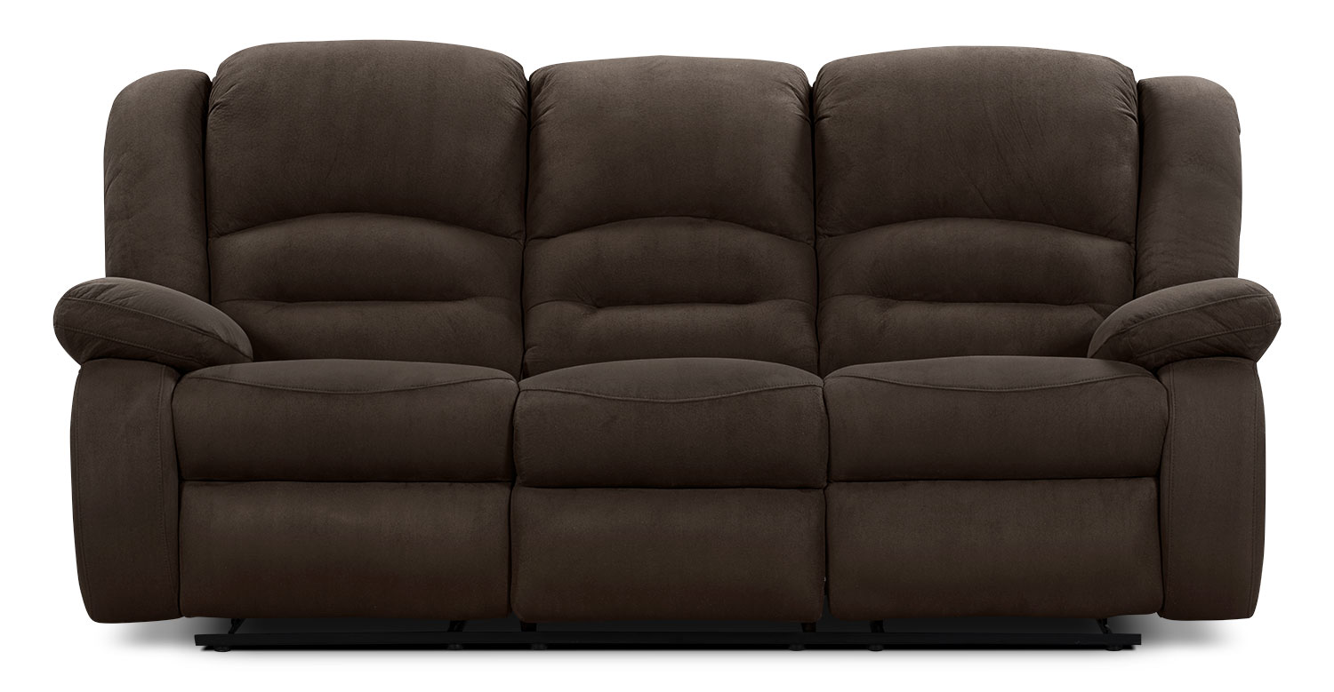 Toreno Cocoa Padded Microsuede Power Recline Sofa