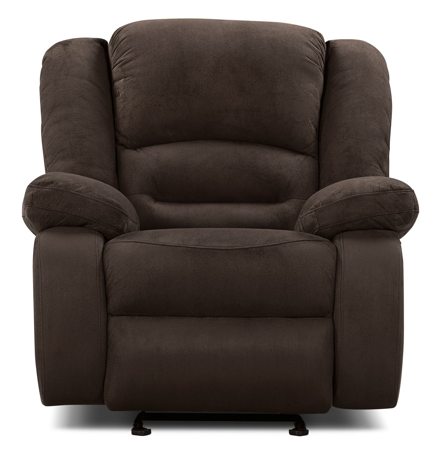 Living Room Furniture - Toreno Cocoa Padded Microsuede Reclining Glider Chair