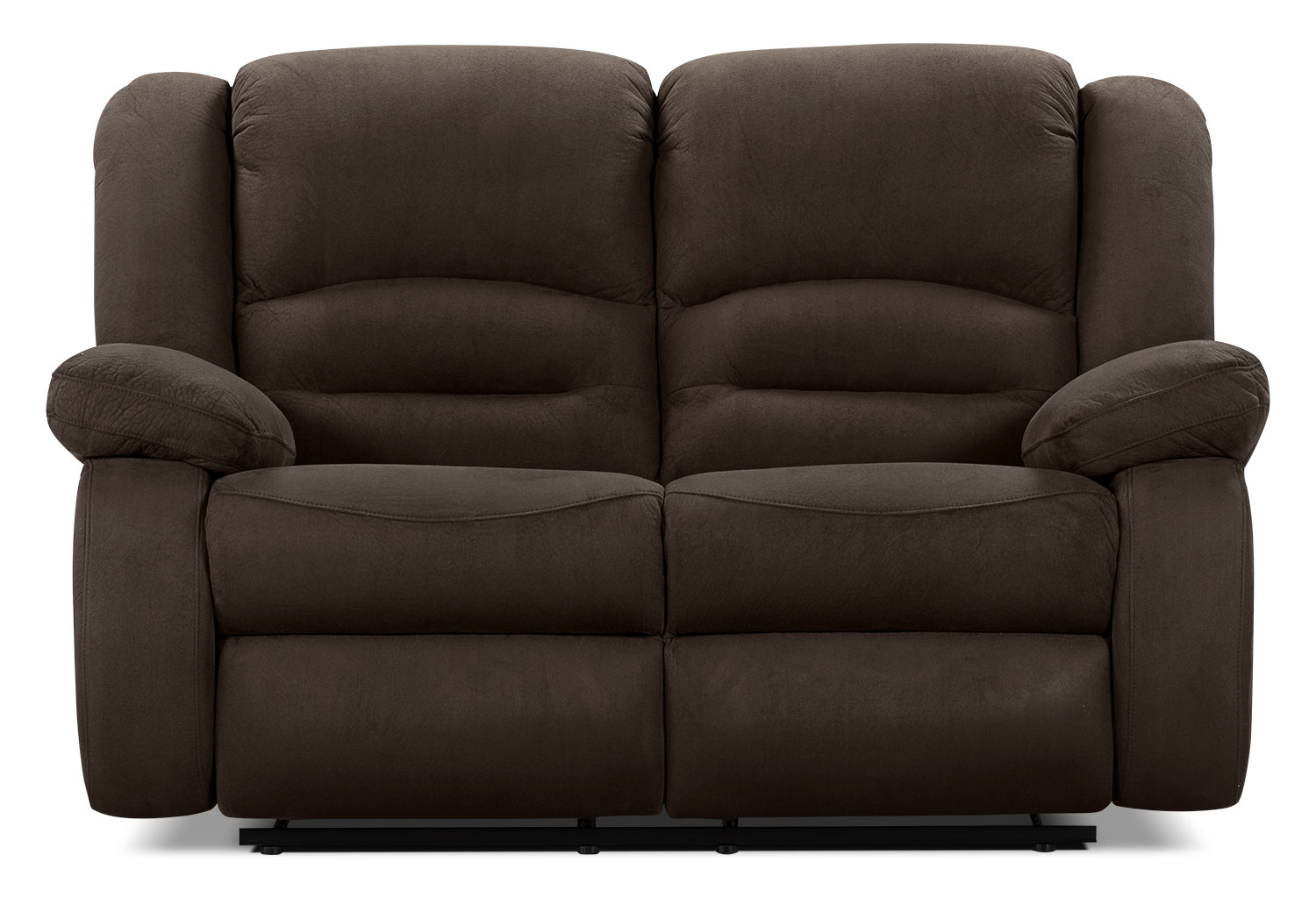 Toreno Cocoa Padded Microsuede Reclining Loveseat The Brick