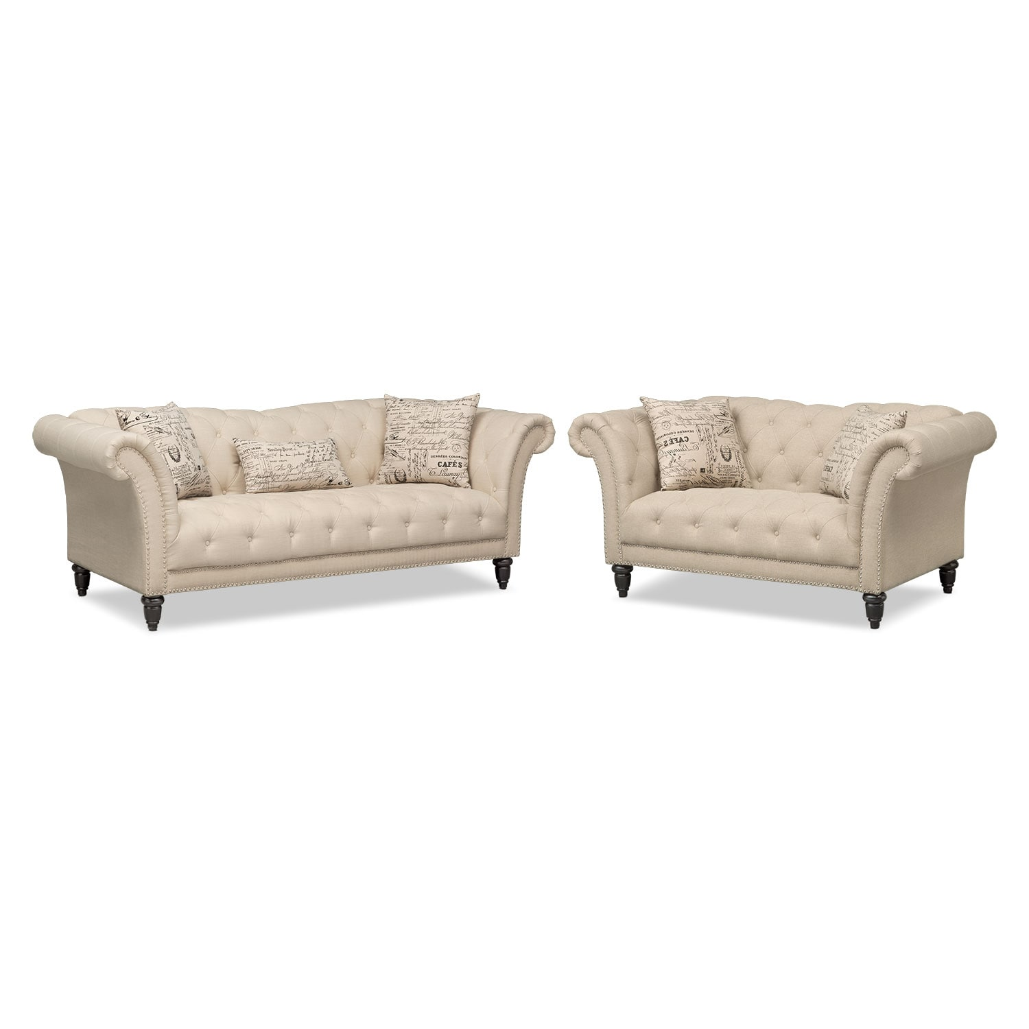 Marisol sofa beige value city furniture for Divan furniture