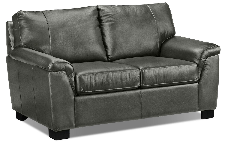 Living Room Furniture - Reynolds Loveseat - Dark Grey