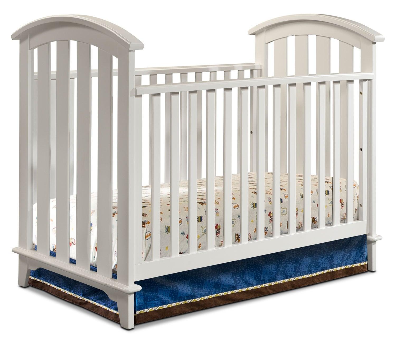 Baby cribs made in canada - Morgan Convertible Crib White