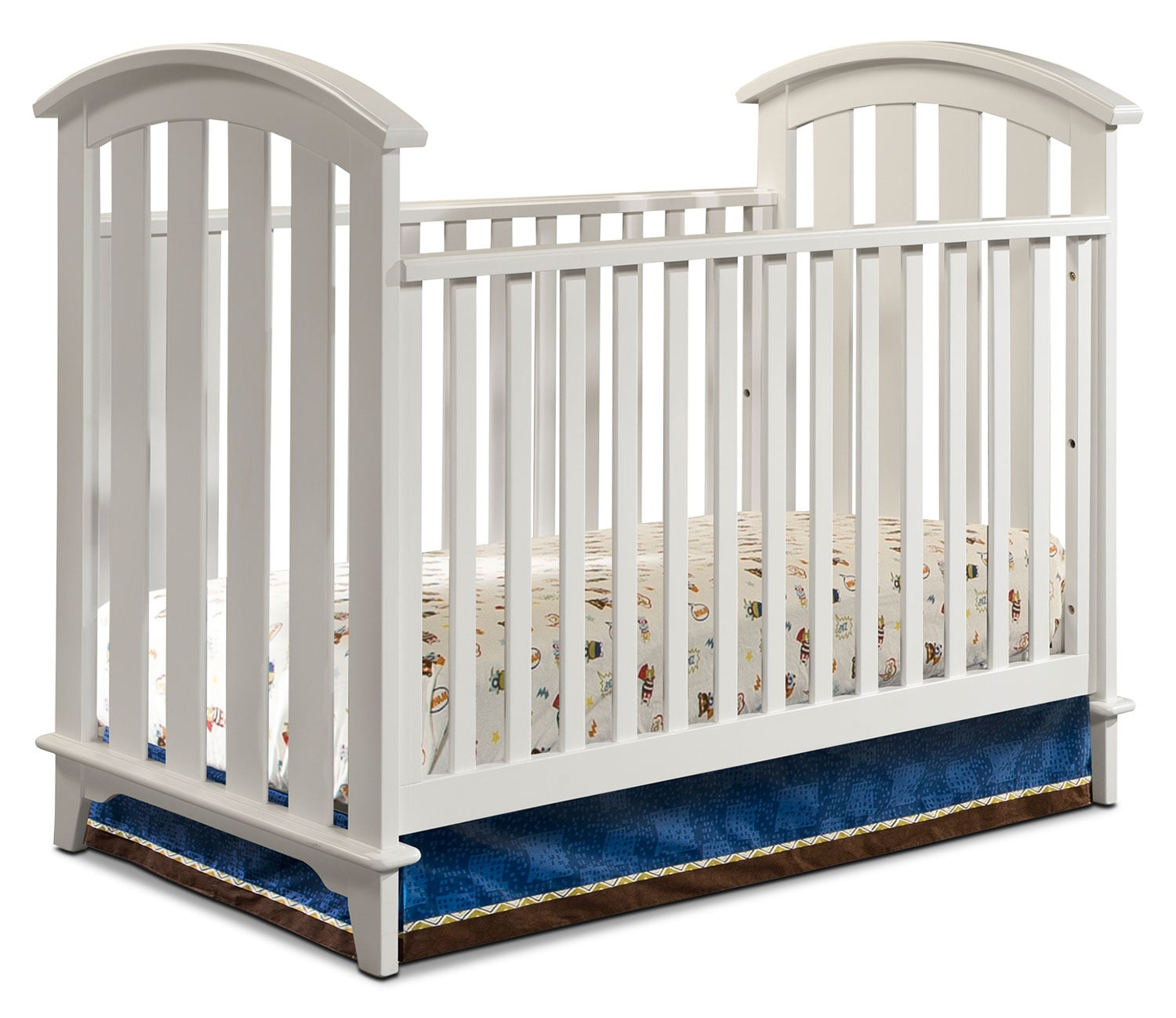 Morgan Convertible Crib - White