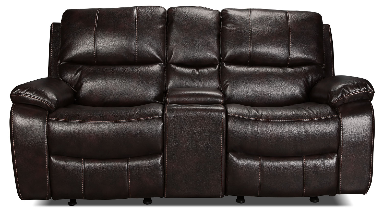 Kimberlee Power Reclining Loveseat with Console - Dark Brown