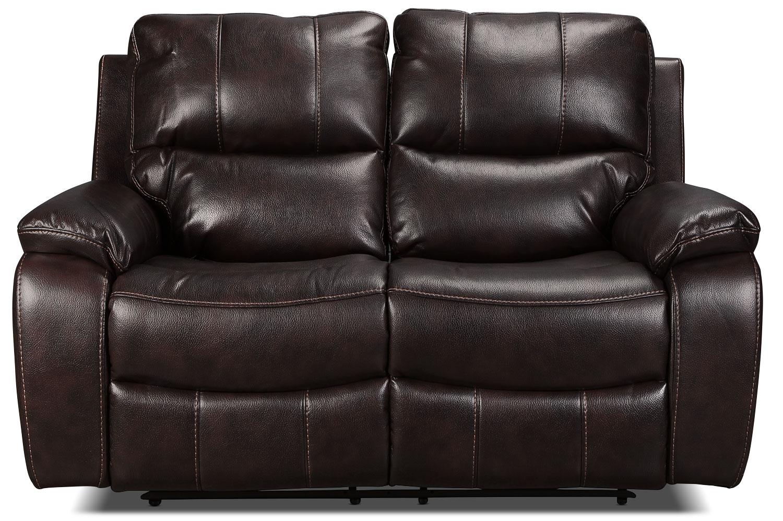 Kimberlee Power Reclining Loveseat Dark Brown Levin Furniture