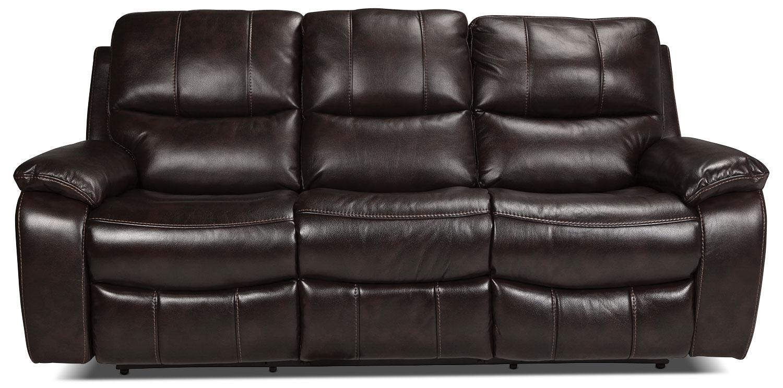 Kimberlee reclining sofa dark brown levin furniture for Levin furniture sectional sofa