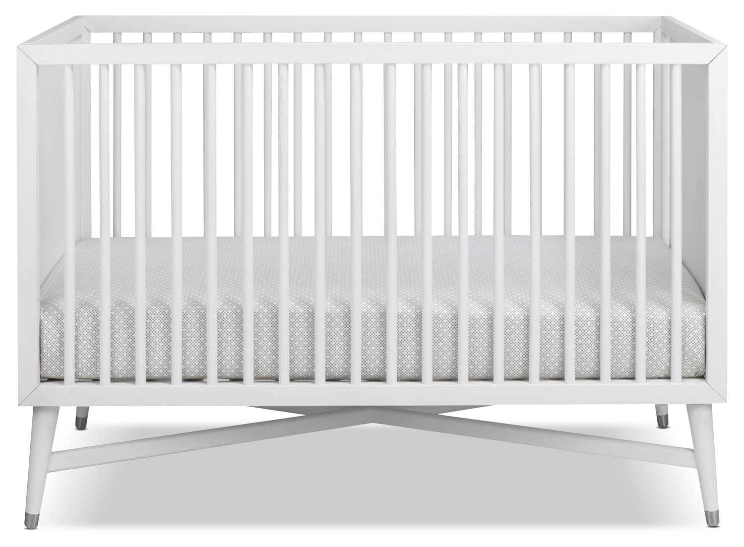 Finley Convertible Crib - White