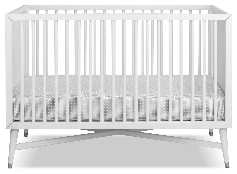 finley convertible crib white leon 39 s. Black Bedroom Furniture Sets. Home Design Ideas