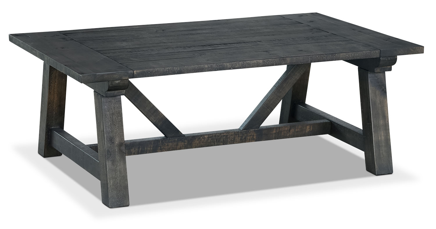 Accent and Occasional Furniture - Online Only - Townbrook Coffee Table - Weathered Charcoal