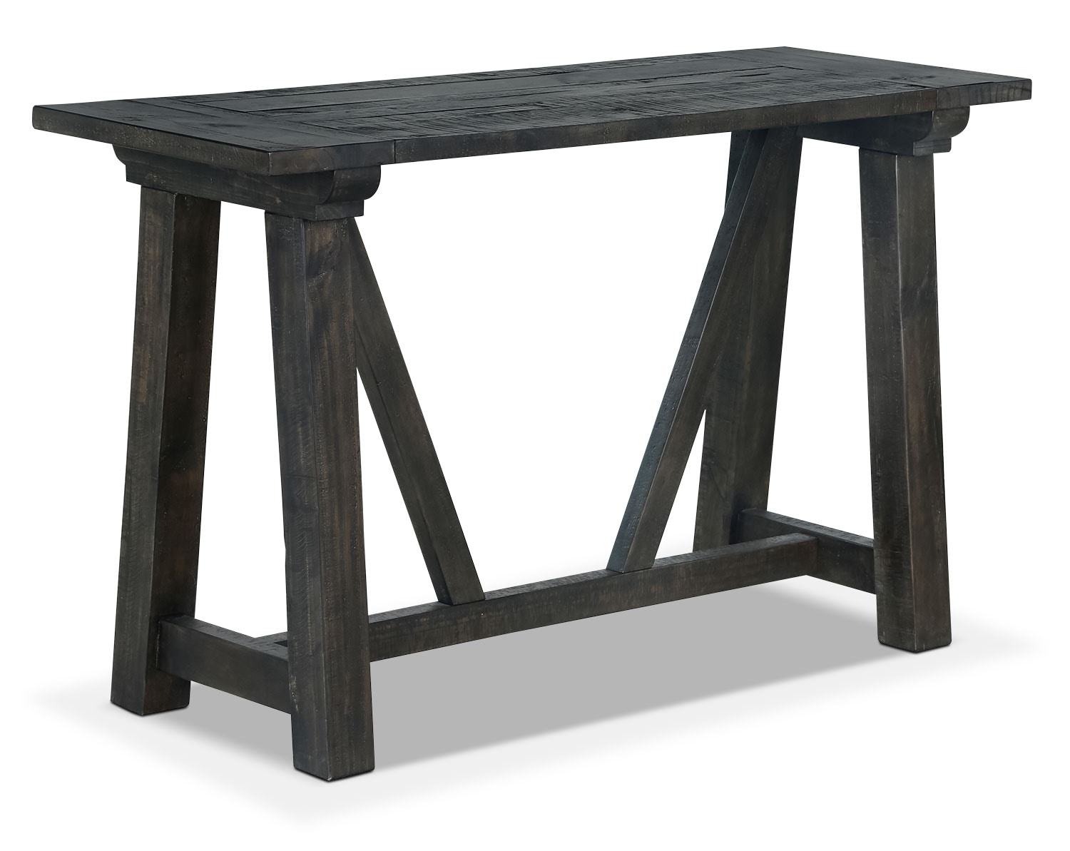 Accent and Occasional Furniture - Online Only - Townbrook Sofa Table - Weathered Charcoal