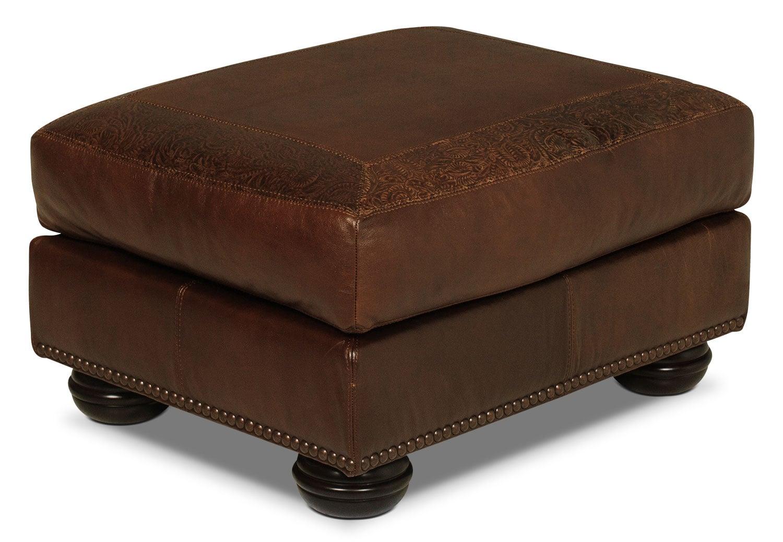 Greenwich Ottoman - Dark Brown