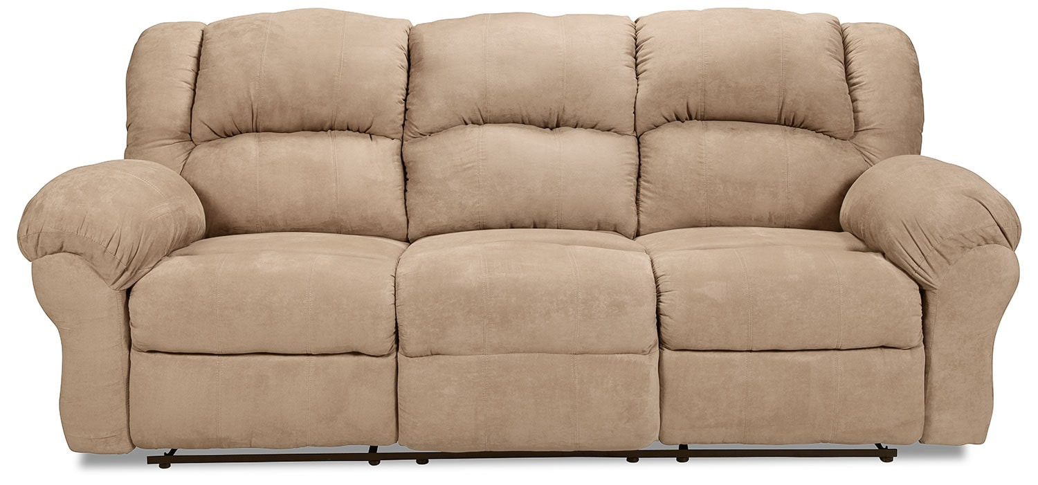 Decker Reclining Sofa - Camel