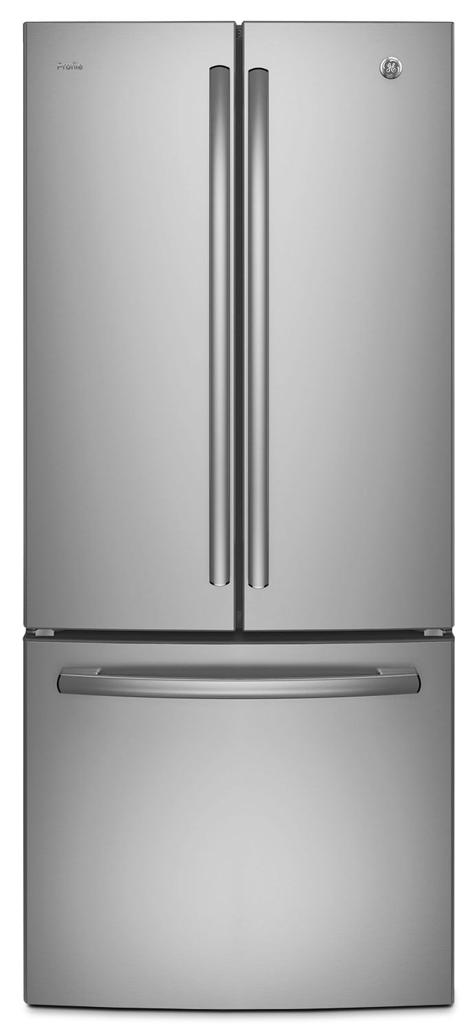 GE 20.8 Cu. Ft. French-Door Refrigerator with Internal Water Dispenser – PNE21KSKSS