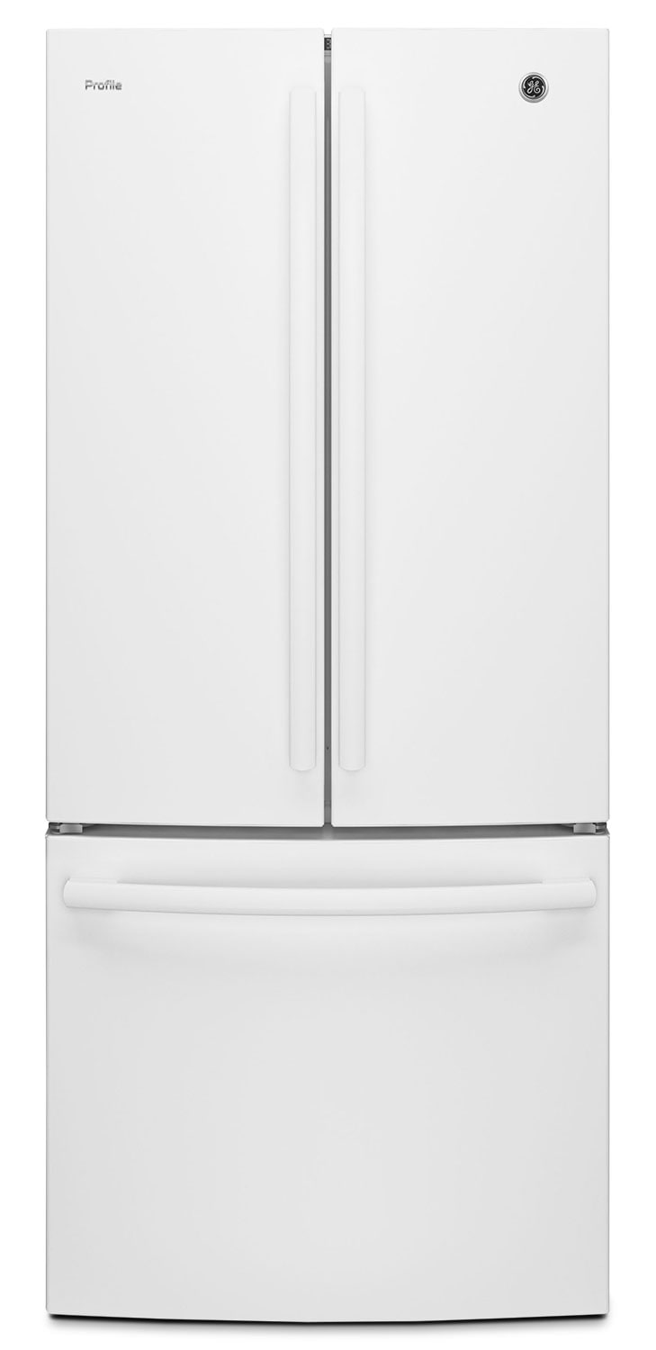 GE 20.8 Cu. Ft. French-Door Refrigerator with Internal Water Dispenser – PNE21KSWW