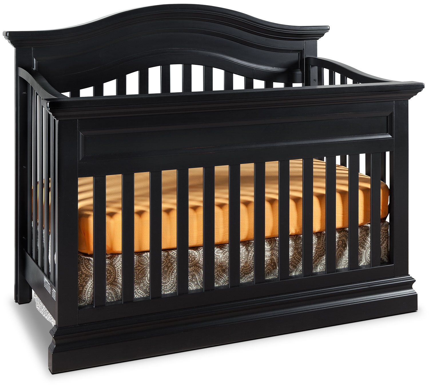 Kids Furniture - Cameron Contour Crib - Black