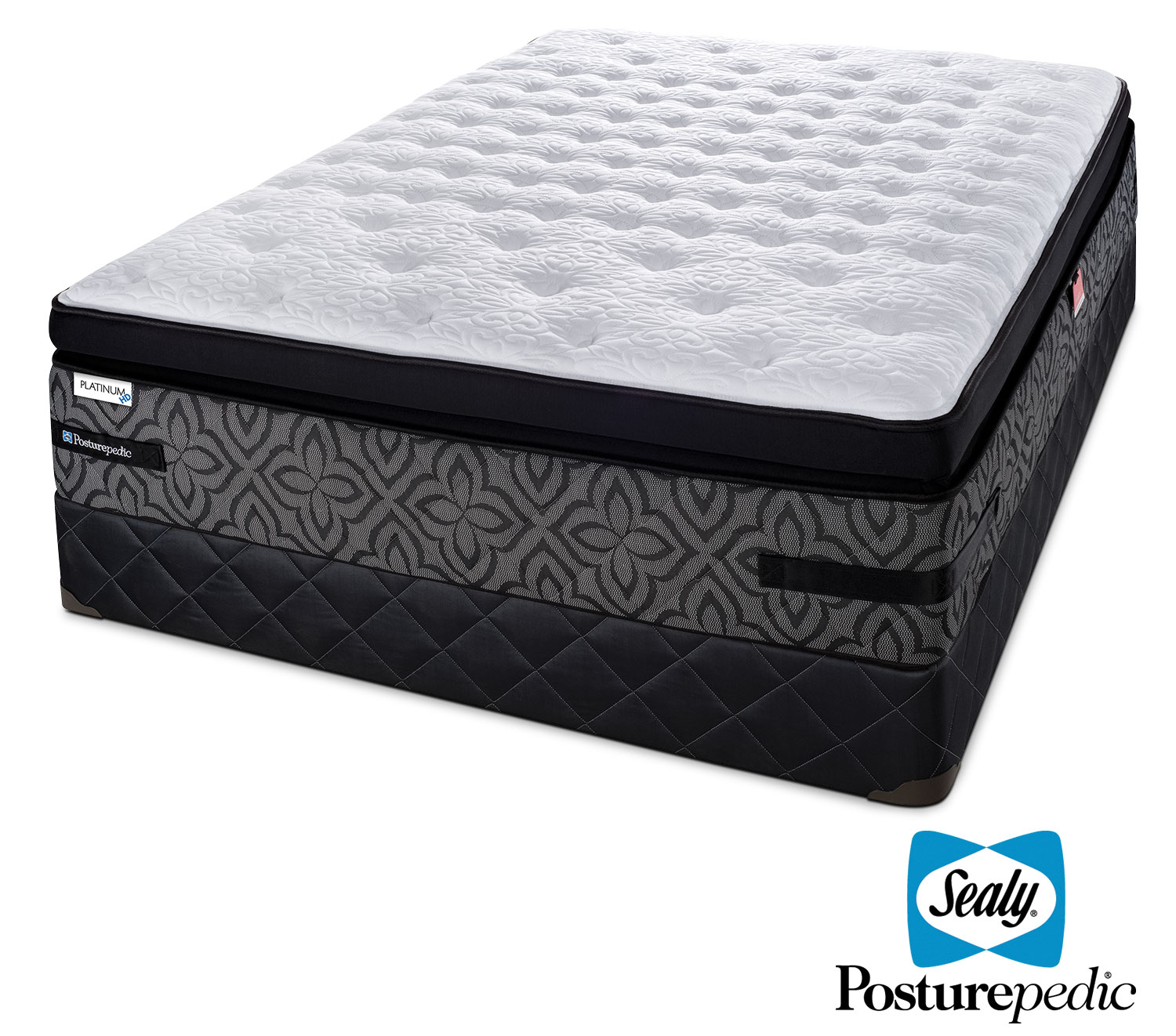 Sealy Posturepedic 3 K Cushion Firm Queen Mattress and Boxspring Set
