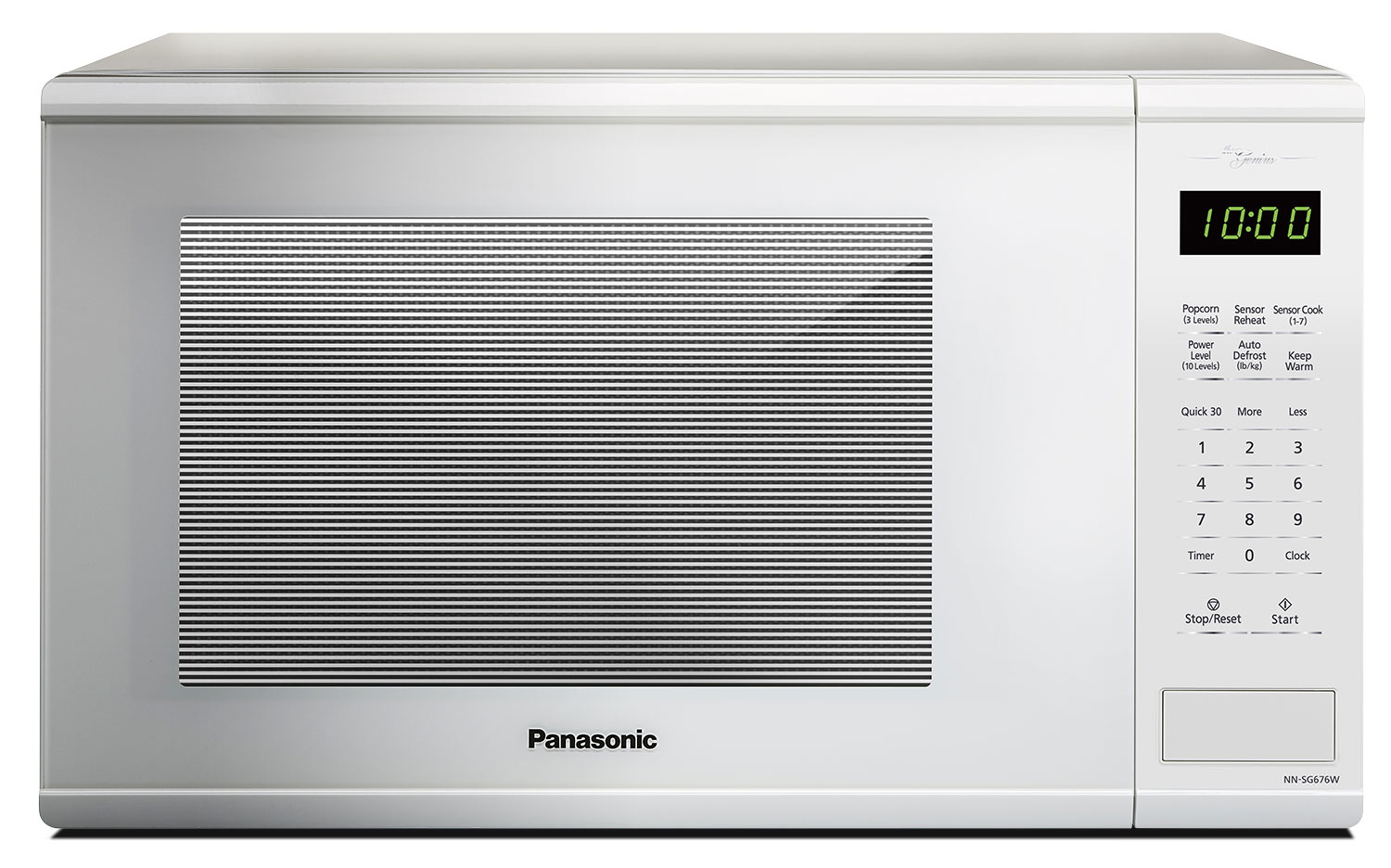 Cooking Products - Panasonic Genius® 1.3 Cu. Ft. Countertop Microwave – NNSG676W