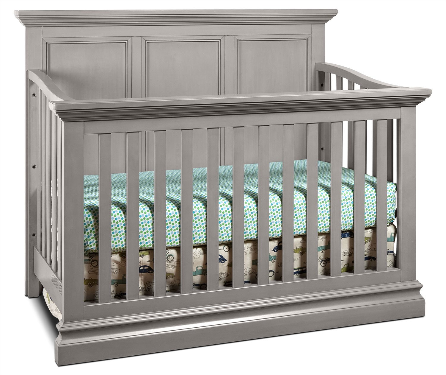 Kids Furniture - Cameron Convertible Panel Crib - Cloud