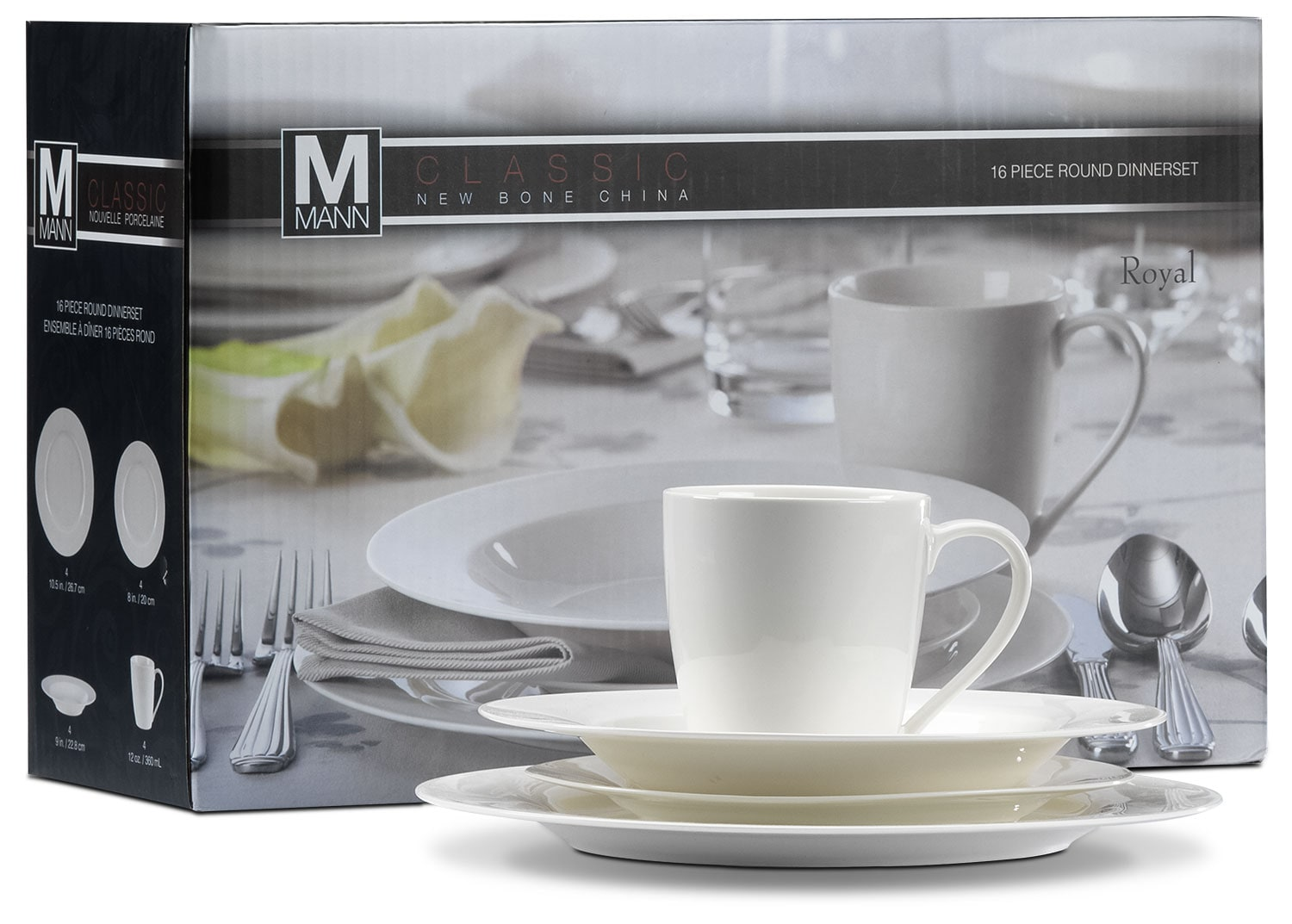 Dining Room Furniture - Citoli 16-Piece New Bone China Set