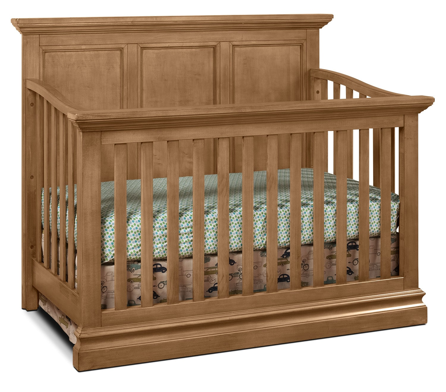 Cameron Panel Convertible Crib - Cashew