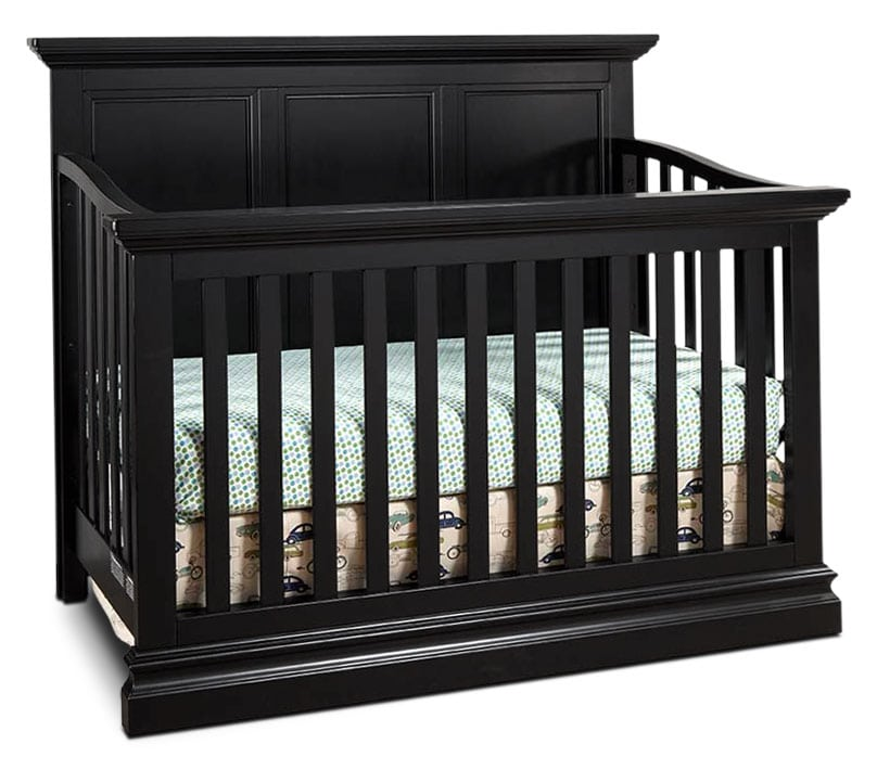 Cameron Panel Crib - Black