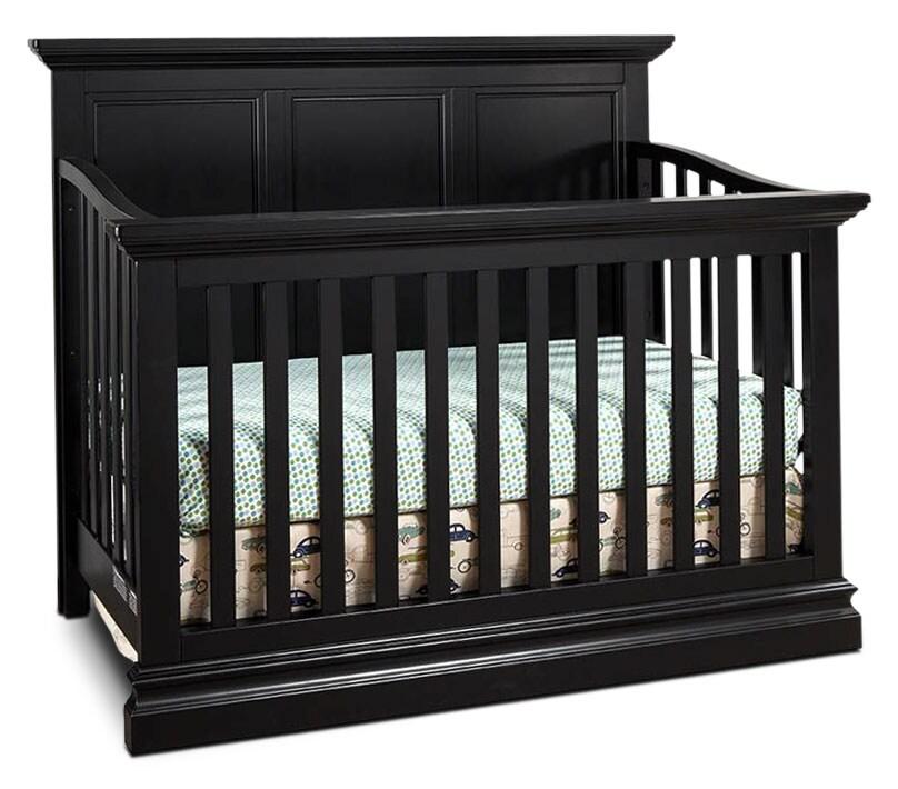 Kids Furniture - Cameron Panel Crib - Black
