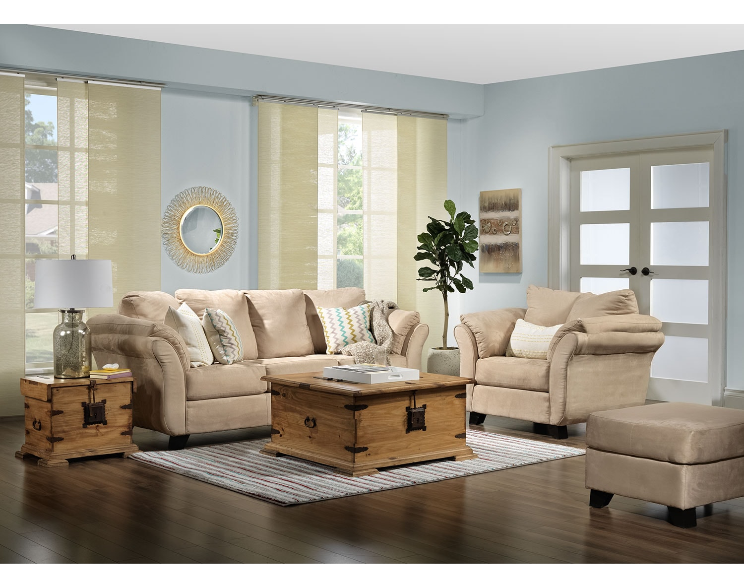 couch in living room collier sofa beige s 14893