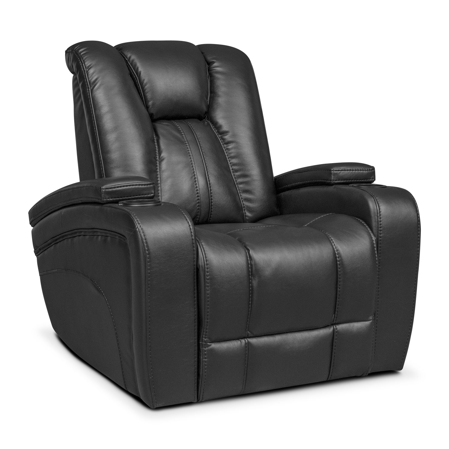 Pulsar power reclining sofa power reclining loveseat and power recliner set black value Power loveseat recliner