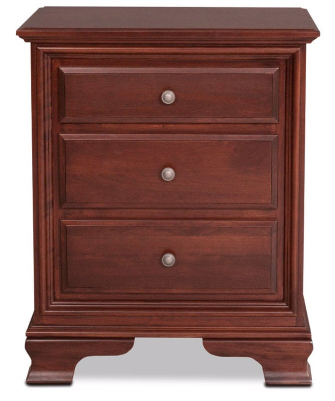 amish classic nightstand brown levin furniture
