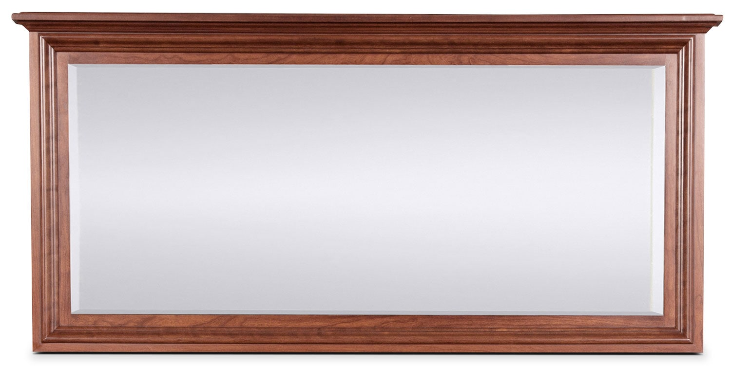 Amish Classic Landscape Mirror - Brown