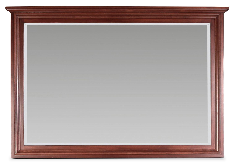 Bedroom Furniture - Amish Classic Landscape Mirror - Brown