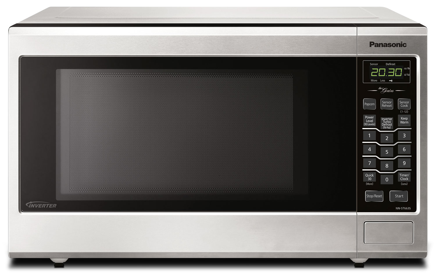 Panasonic 1.2 Cu. Ft. Countertop Microwave – NNST663SC