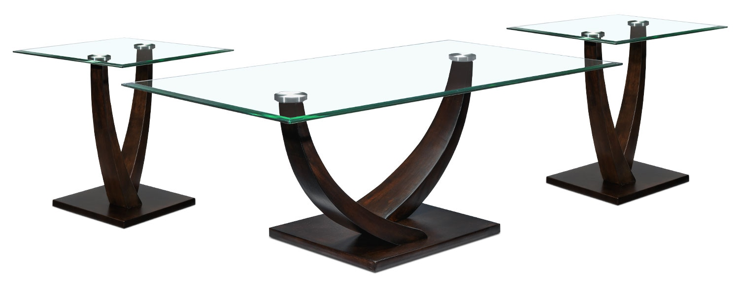 Caprice 3-Piece Table Set - Espresso