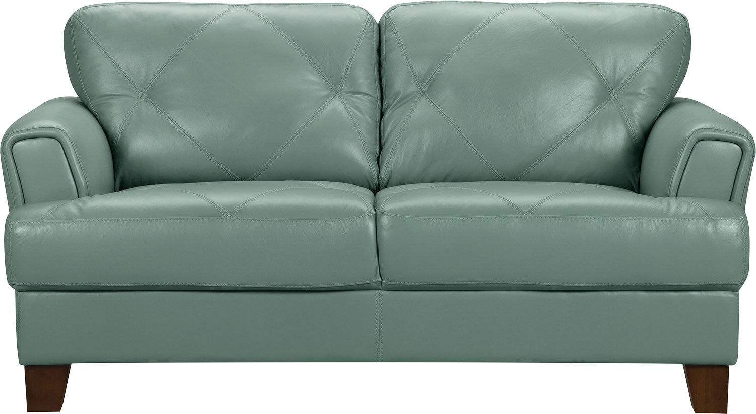 Vita 100 Genuine Leather Loveseat Sea Foam The Brick