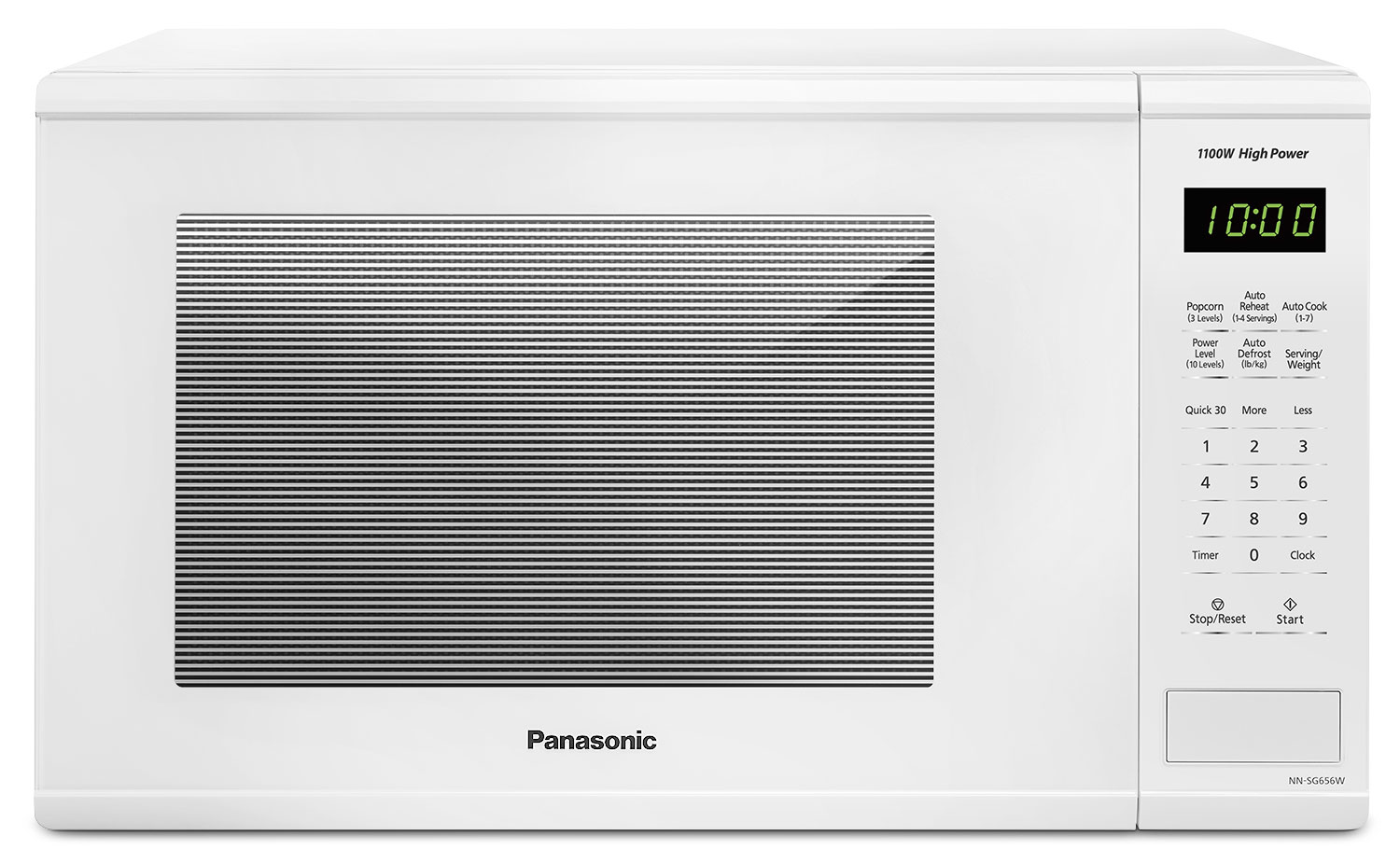 Countertop Microwave White : Panasonic White Countertop Microwave (1.3 Cu. Ft.) - NNSG656W Leons