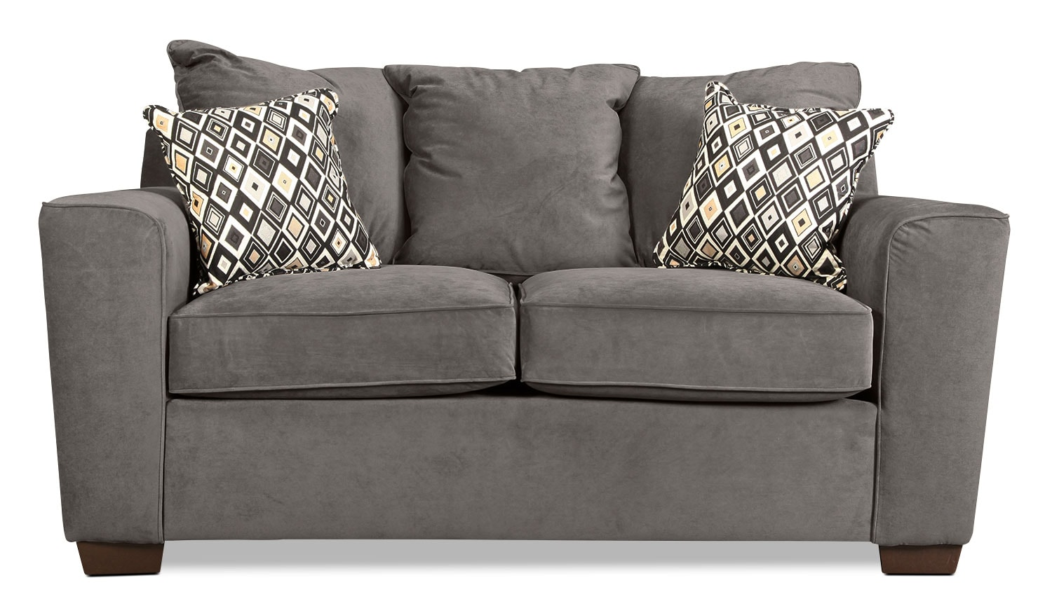 Diamond Loveseat - Gunsmoke