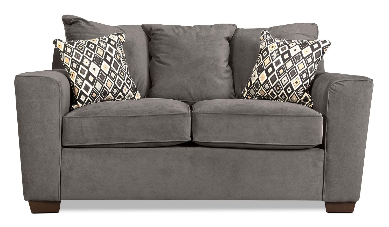 Living Room Furniture - Diamond Loveseat - Gunsmoke