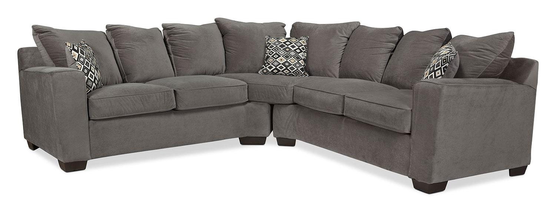 Living Room Furniture - Diamond 2-Piece Sectional - Gunsmoke