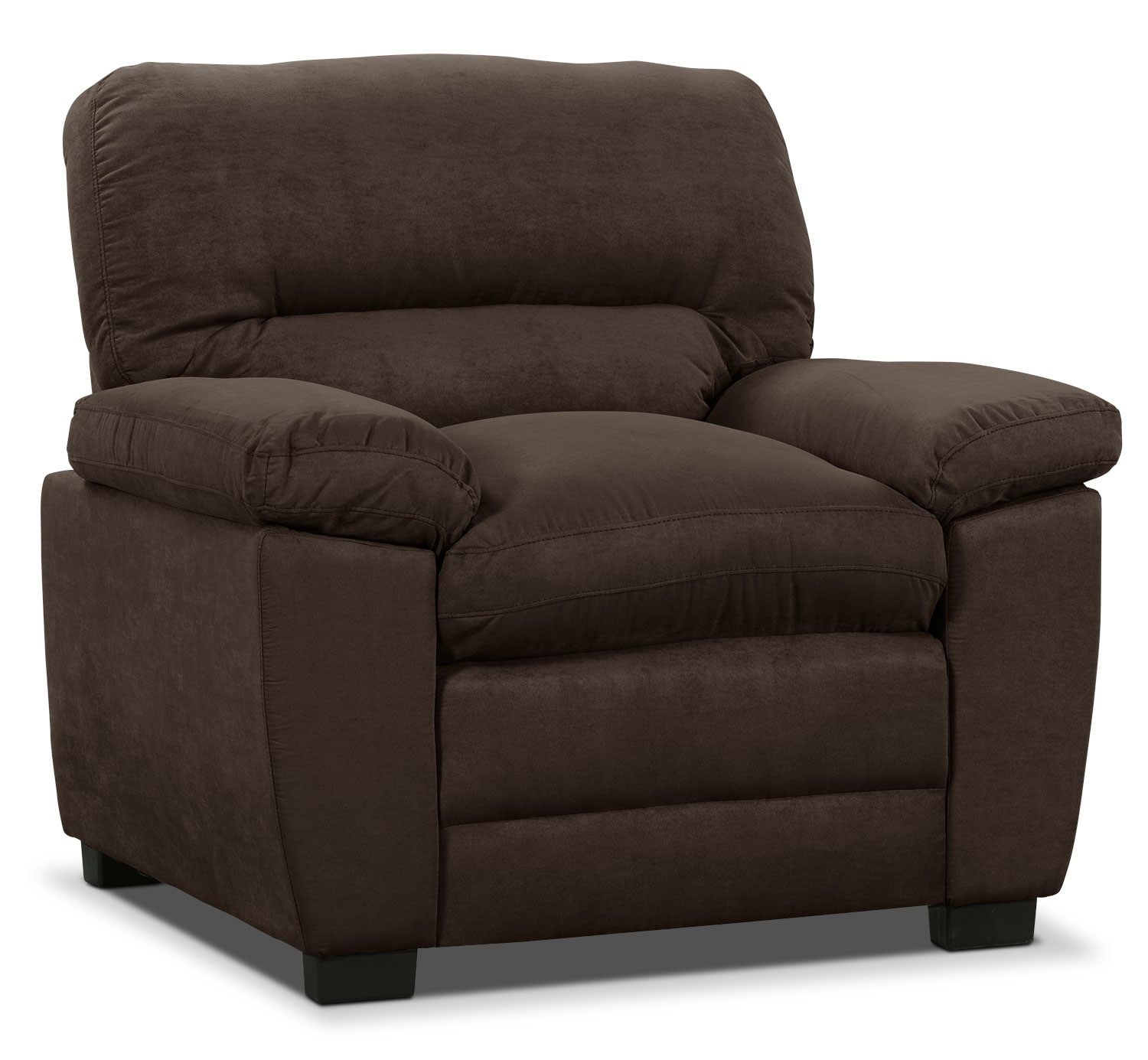 Peyton Microsuede Loveseat Chocolate The Brick