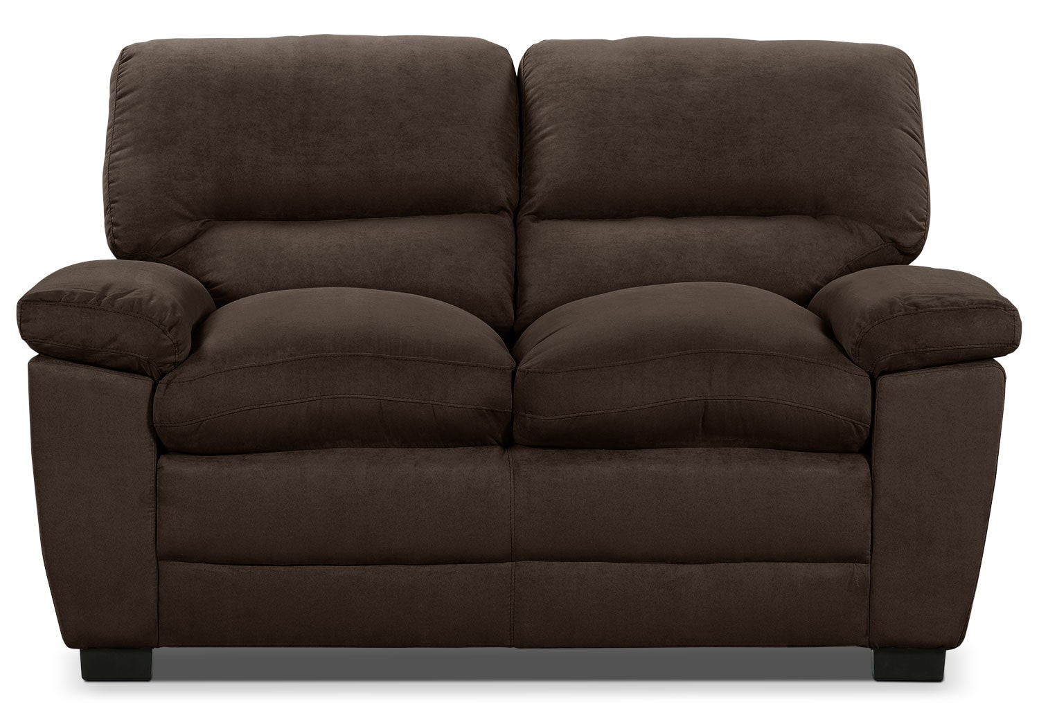 Living Room Furniture - Peyton Microsuede Loveseat - Chocolate