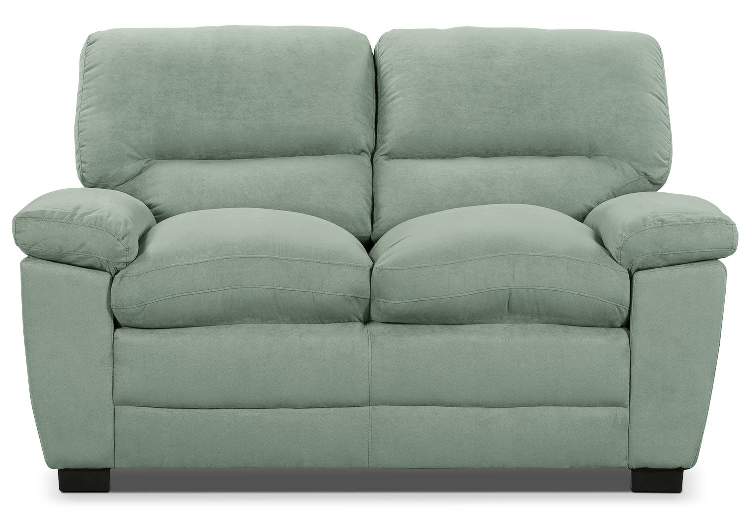 Living Room Furniture - Peyton Microsuede Loveseat - Blue Mist