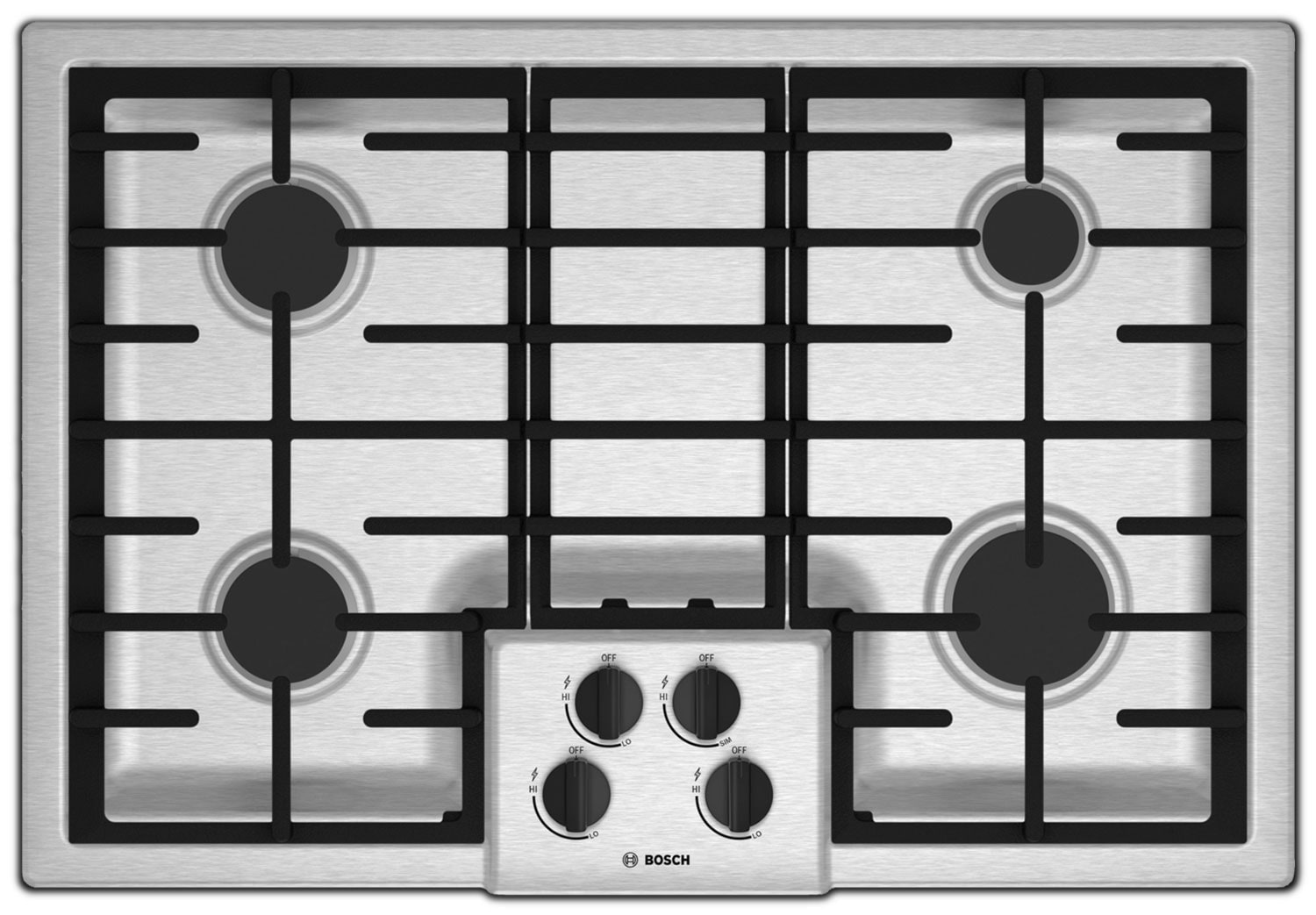 "Bosch 500 Series 30"" 4-Burner Gas Cooktop – NGM5055UC"