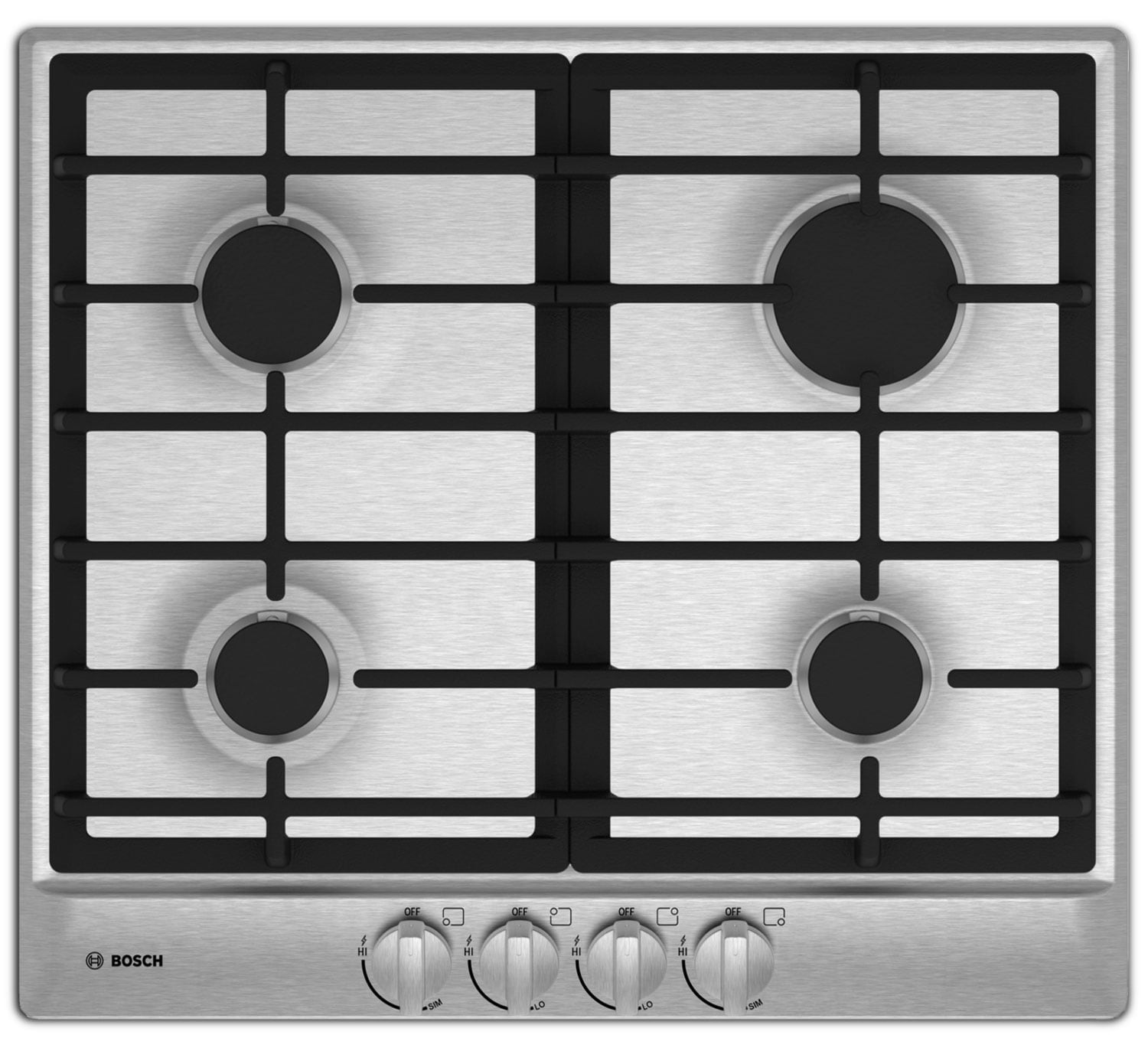 Cooking Products - Bosch Stainless Steel Gas Cooktop - NGM5455UC