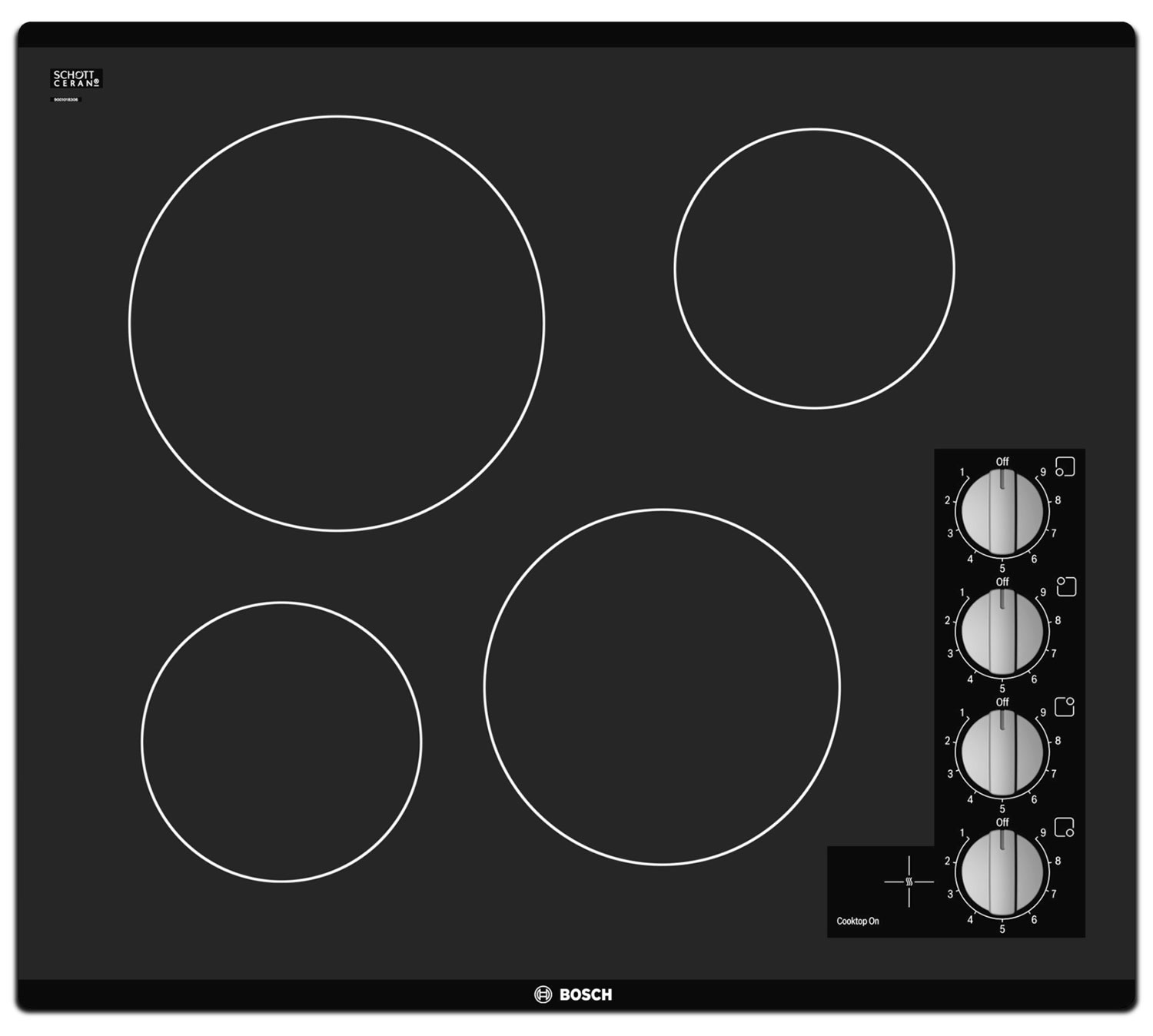 Cooking Products - Bosch Black Electric Cooktop - NEM5466UC
